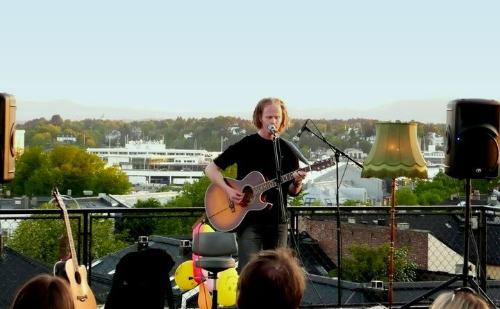Richard Nygaard on the rooftop